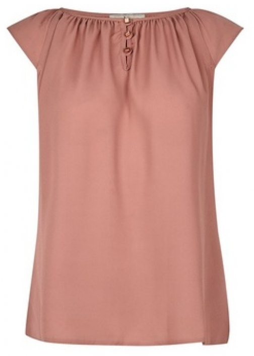 Billie & Blossom Rose Button Front Shell Top