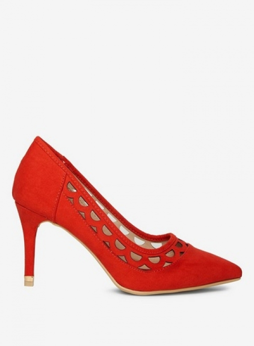 Dorothy Perkins Womens Red 'Glaze' Cut Out Heel Court - Red, Red Shoes