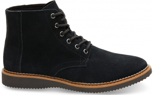 Toms Black Suede Men's Porter - Size UK7.5 / US8.5 Boot