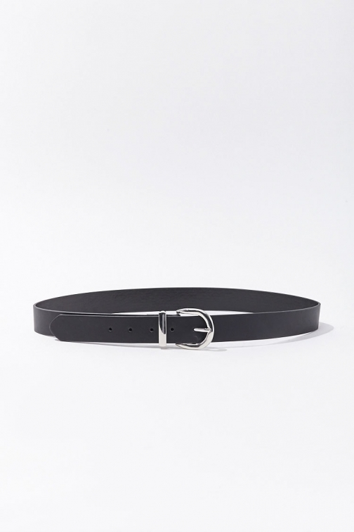 Forever21 Forever 21 Faux Leather Hip , Black Belt