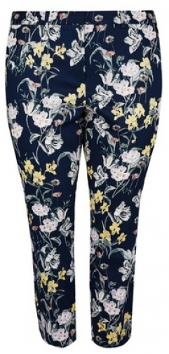 Dorothy Perkins Dp Curve Floral Print Ankle Grazer Trousers Trouser