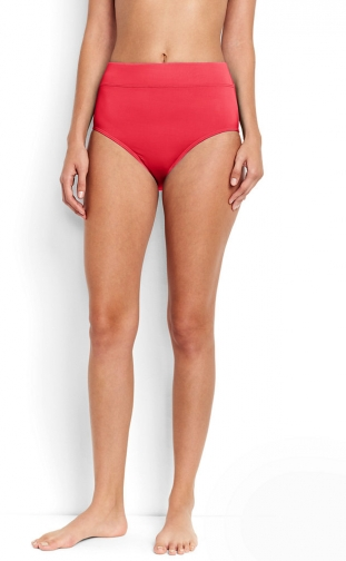 Lands' End Women's Tummy Control High Waisted Bottoms - Lands' End - Orange - 2 Bikini