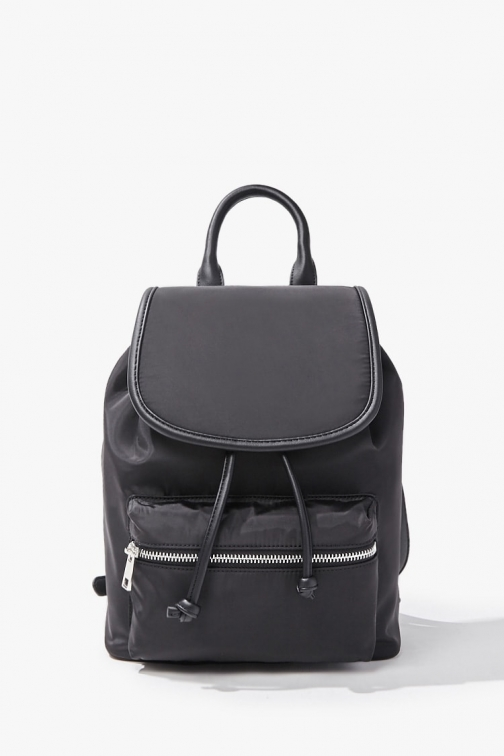 Forever21 Forever 21 Faux Leather Trim , Black Backpack