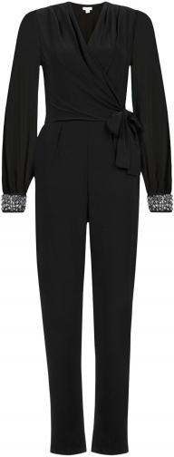 Monsoon Taylor Embellished Cuff Jumpsuit