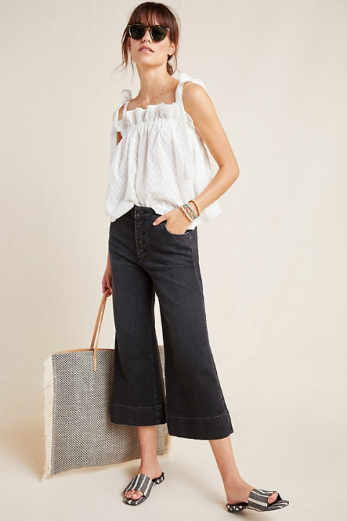 Pilcro And The Letterpress Pilcro Jemmie Cropped Wide-Leg Jeans Wide Leg Jeans