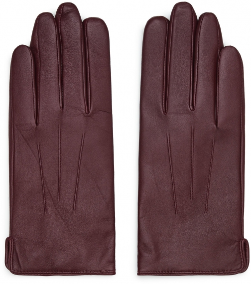 Reiss Christa - Leather Oxblood, Womens, Size L Glove