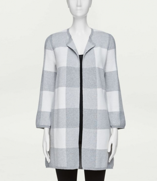 Loft Plaid Coatigan Jacket