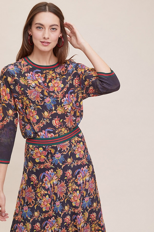 Anthropologie Kani Floral-Silk - Assorted, Size Uk Top