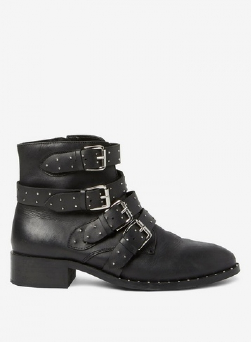 Dorothy Perkins Black 'Automatic' Leather Boot