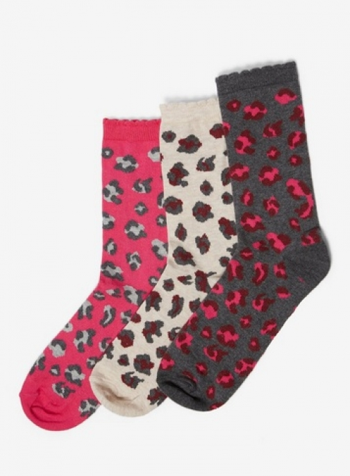 Dorothy Perkins Womens 3 Pack Multi Colour Leopard - Multi Colour, Multi Colour Sock