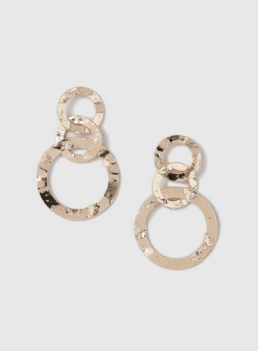 Dorothy Perkins Gold Crushed Metal Link Earring