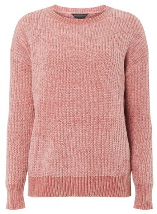 Dorothy Perkins Womens Pink Chenille - Pink, Pink Jumper