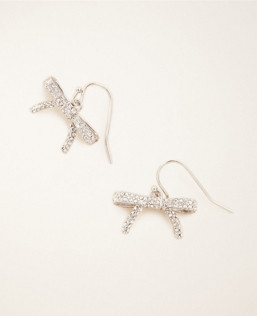 Ann Taylor Pave Bow Drop Earring