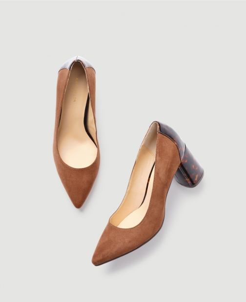 Ann Taylor Factory Pointy Toe Block Heels Shoes