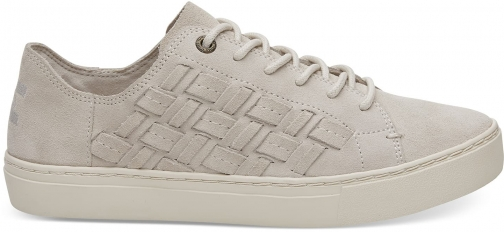 Toms Beige Basketweave Suede Women's Lenox Sneakers Shoes