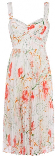Karen Millen Floral Pleated Dress