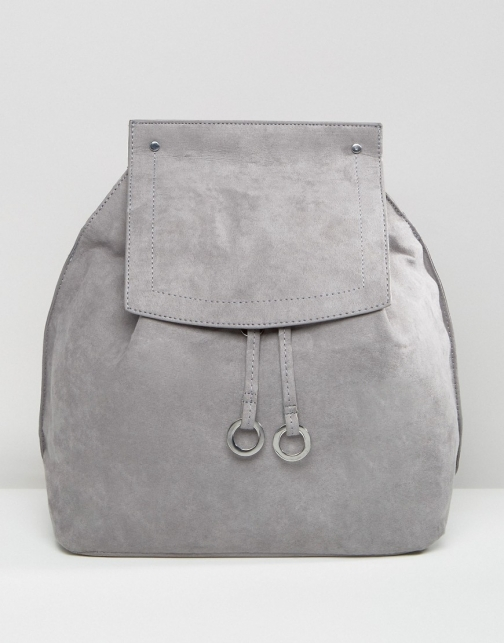 Missguided Faux Suede Backpack