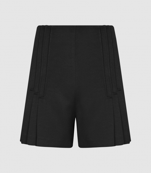Reiss Aurora - Pleated Tailored Black, Womens, Size 16 Short