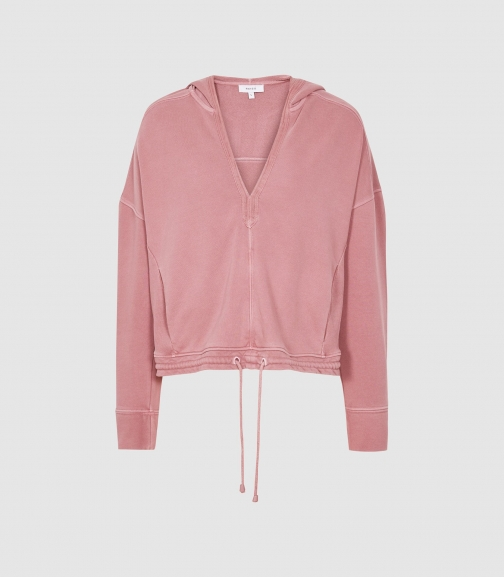 Reiss Rayna - Washed Loungewear Rose, Womens, Size XS Hoodie