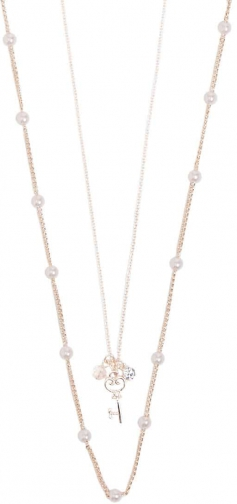 Forever21 Forever 21 Key Pendant Chain Necklace Set , Rose Gold Jewellery