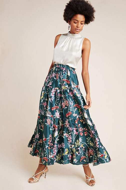 Anthropologie Tracie Tiered Maxi Skirt