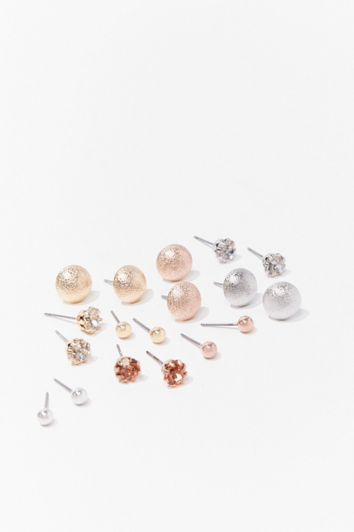 Forever21 Forever 21 Assorted Stud Earring Set , Gold/silver Jewellery