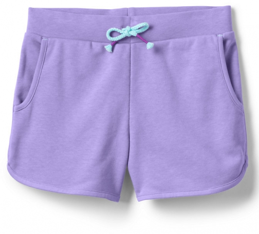 Lands' End Girls French Terry Pull On - Lands' End - Purple - S Short