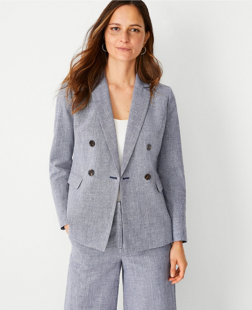 Ann Taylor The Double Breasted Blazer
