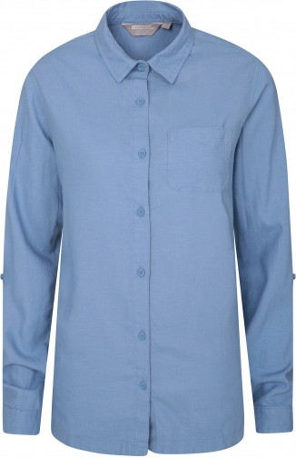 Mountain Warehouse Lounge Womens Long Linen - Blue Shirt