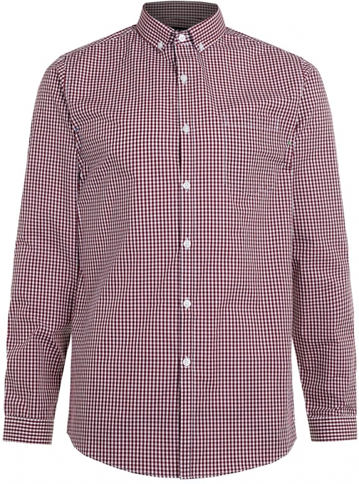 Topman Men's Topman Long Sleeve Gingham Smart Shirt