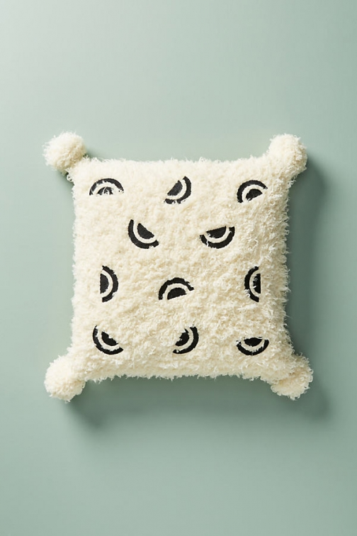 Anthropologie Bailey Cushion - White, Size 20 Sq Faux Fur