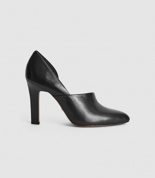Reiss Amelie - Leather High Heels Black, Womens, Size 4 Shoes
