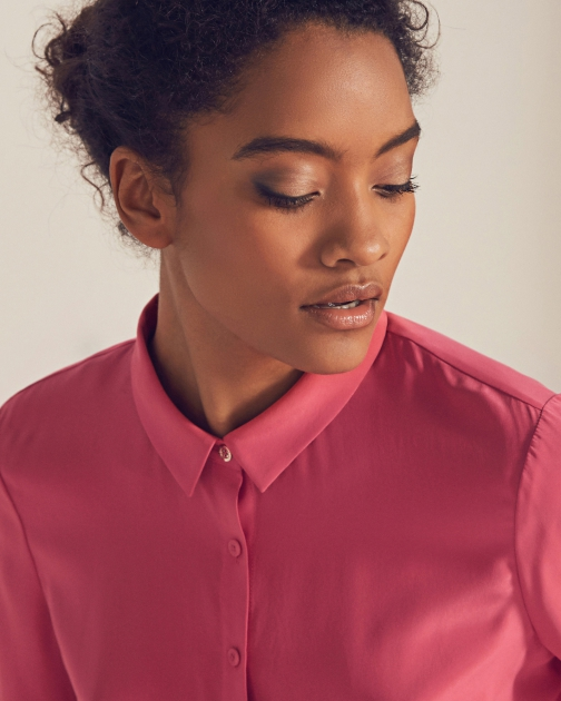 Ted Baker Button-front Silk Shirt