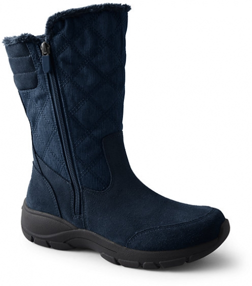 Lands' End Women's All Weather Winter - Lands' End - Blue - 6 Snow Boot