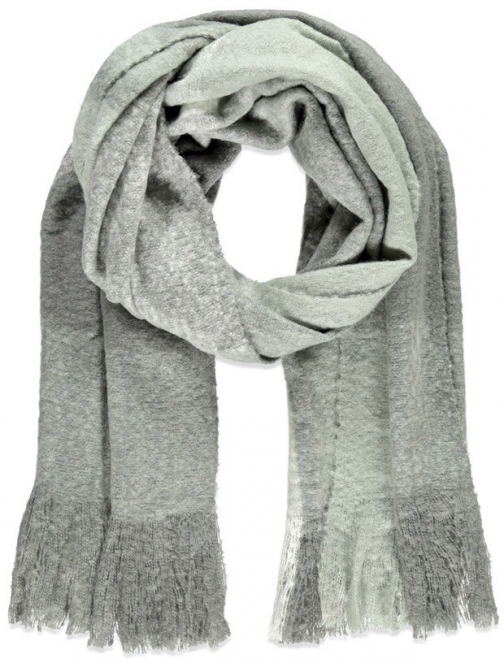 Forever21 Forever 21 Fringed Oversized Plaid Grey/light Blue Scarf