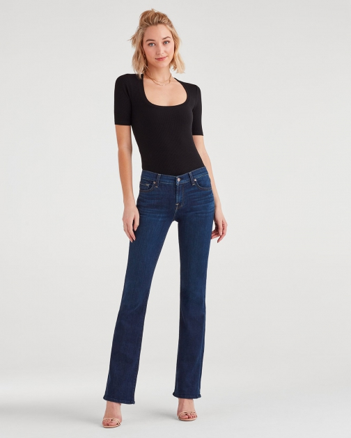 7 For All Mankind Women's Tailorless Bootcut Serrano Night Trouser