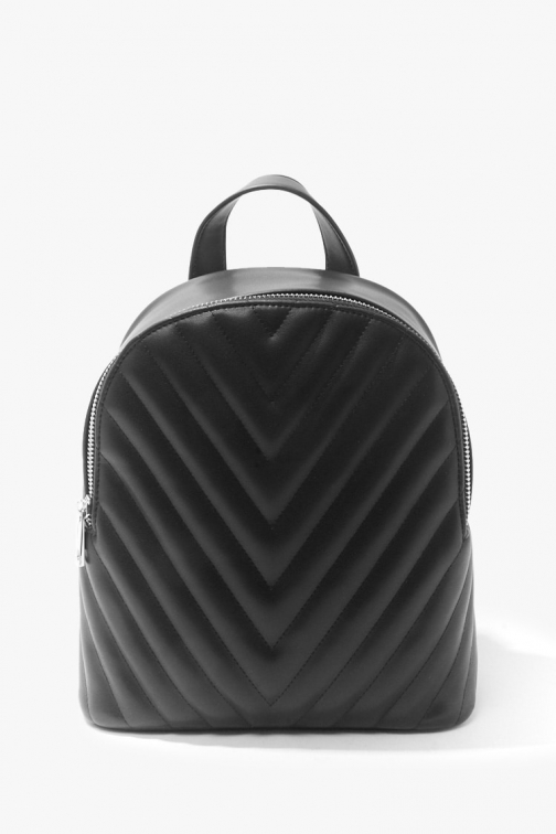 Forever21 Forever 21 Quilted Faux Leather , Black Backpack