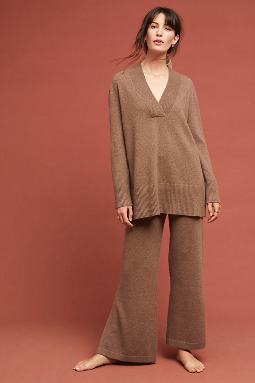 Anthropologie Cashmere Flare Trousers Trouser