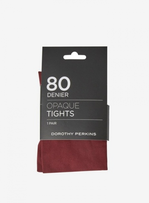 Dorothy Perkins Womens Wine 1 Pack 80 Denier - Red, Red Tight