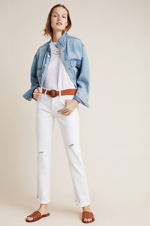 Pilcro And The Letterpress Pilcro Mid-Rise Slim Boyfriend Jeans