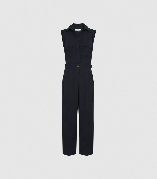 Reiss Abella - Utility Navy, Womens, Size 4 Jumpsuit