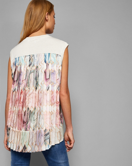Ted Baker Pleated Back Sleeveless Knit Shirt