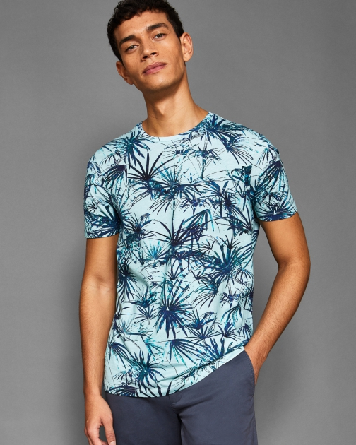 Ted Baker Tropical Print Cotton T-Shirt