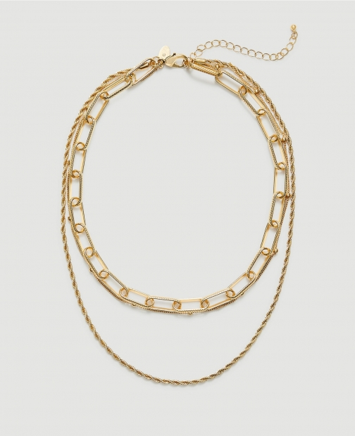 Ann Taylor Factory Layered Chain Statement Necklace