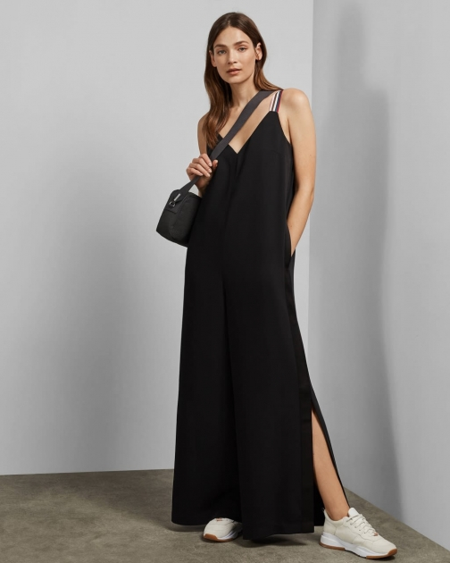 Ted Baker Striped Strap Jumpsuit
