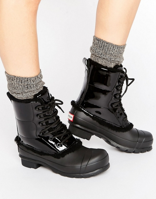 Hunter Original Leather Lace Up Boot