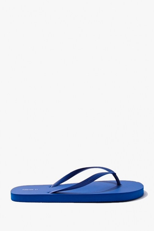 Forever21 Forever 21 Classic Textured , Blue Flip Flop