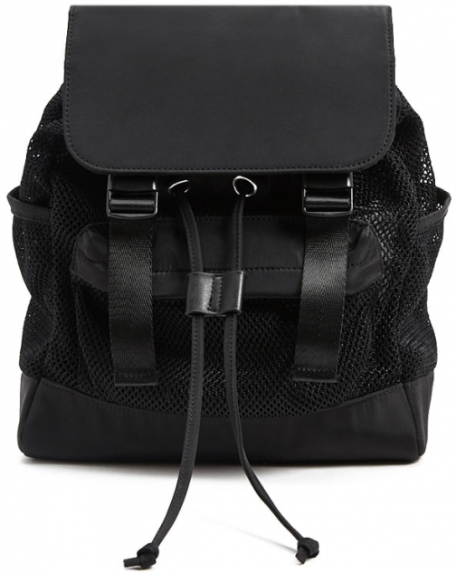Forever21 Forever 21 Sheer Mesh , Black Backpack