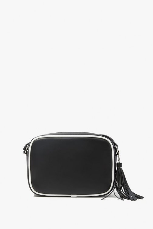 Forever21 Forever 21 Faux Leather Contrast Crossbody , Black/white Crossbody Bag