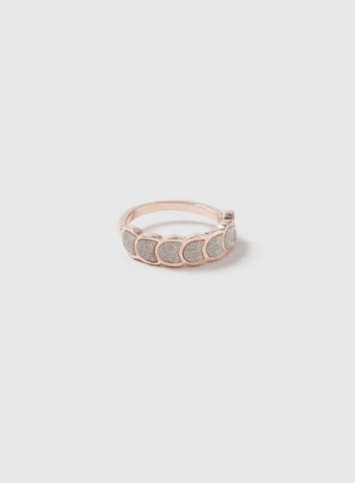 Dorothy Perkins Rose Gold Scallop Glitter Ring